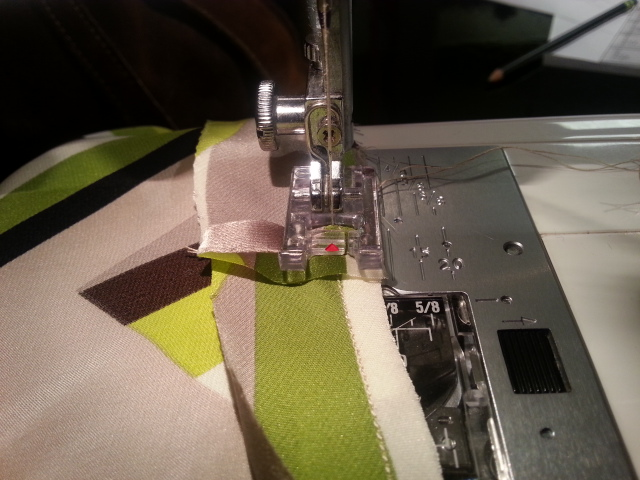 Stitch Bias tape seam down