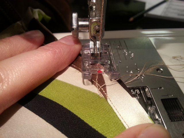 Sewing side seams - right sides together